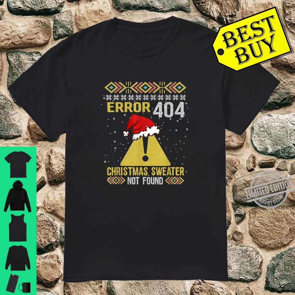 Error 404 Christmas Not Found Computer Programer Shirt