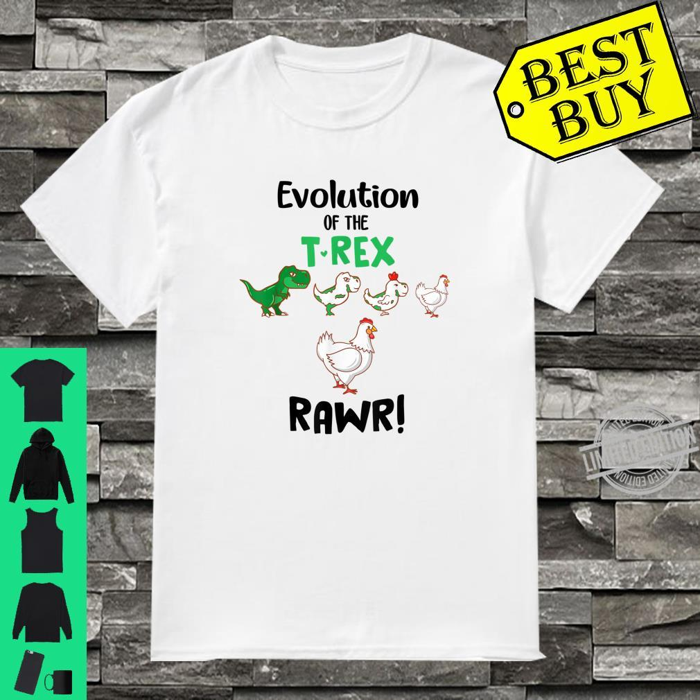 Evolution Of The T Rex Rawr Chicken Dinosaur Shirt