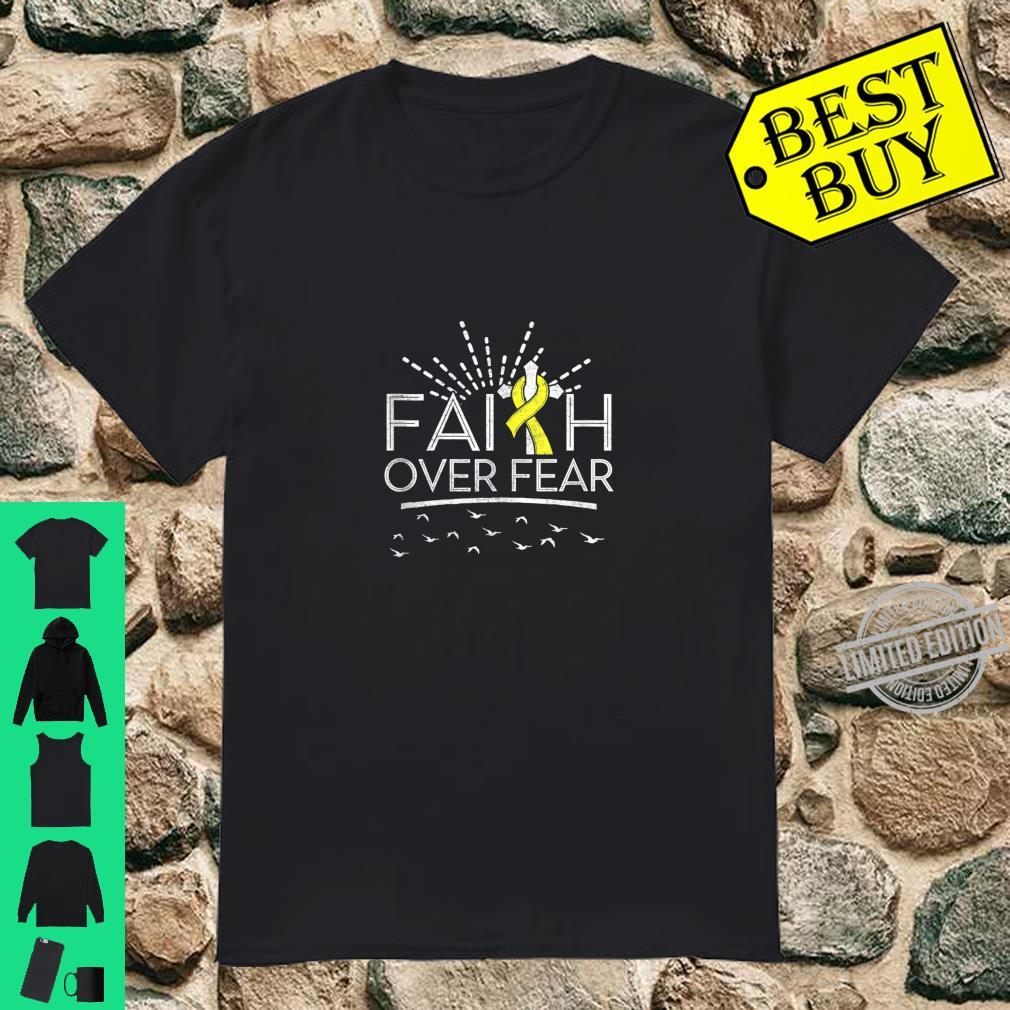 Faith over Fear Yellow Ribbon Sarcoma Cancer Shirt
