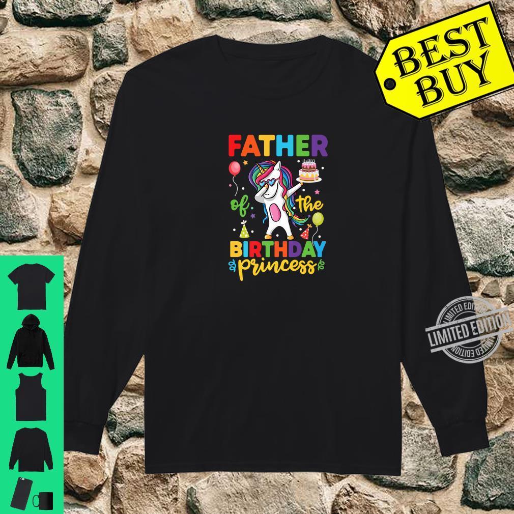 Father of the Birthday Princess Shirt Unicorn Girl Shirt long sleeved