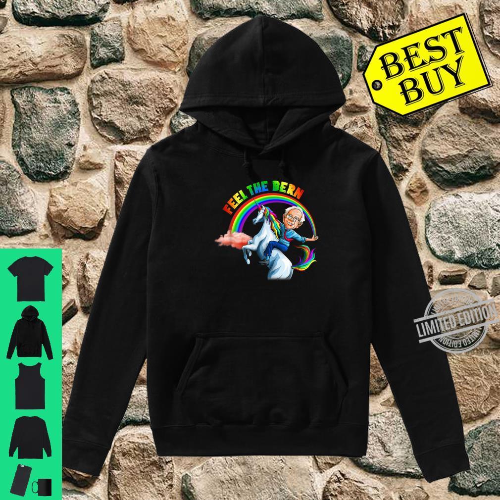 Feel the Bernie Riding Unicorn Magical Rainbow Bern Shirt hoodie