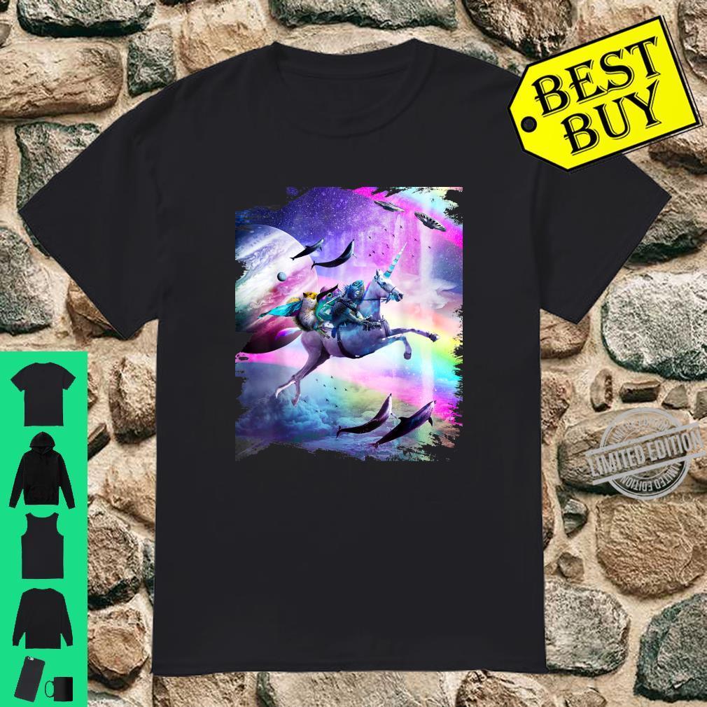 Frosch Bärtiger Dragon Squirrel On Rainbow Unicorn Shirt