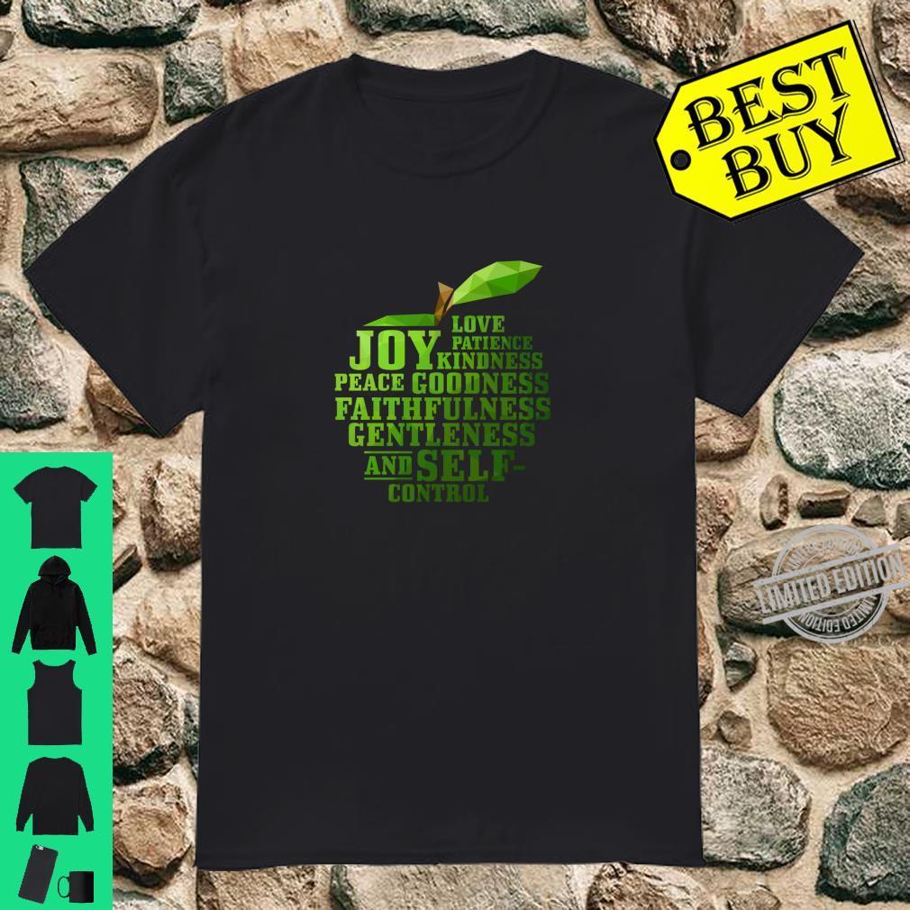 Fruits of the Spirit Pastor Word Art Christian Langarmshirt Shirt