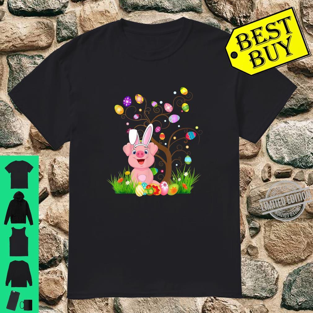 Funny Bunny Pigs Easter Egg Tree Shirt