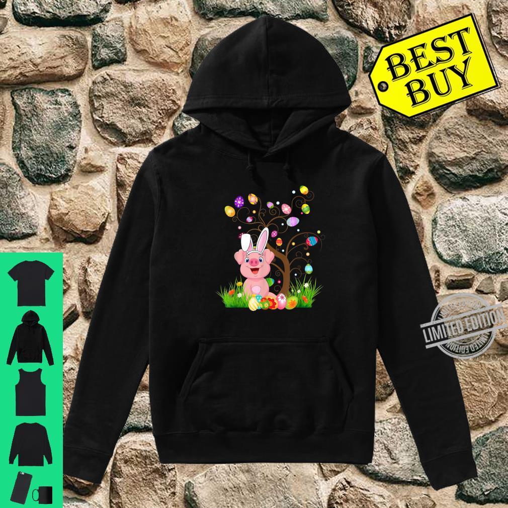 Funny Bunny Pigs Easter Egg Tree Shirt hoodie
