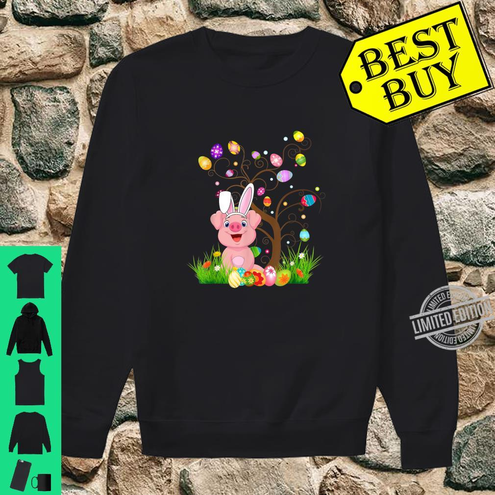 Funny Bunny Pigs Easter Egg Tree Shirt sweater