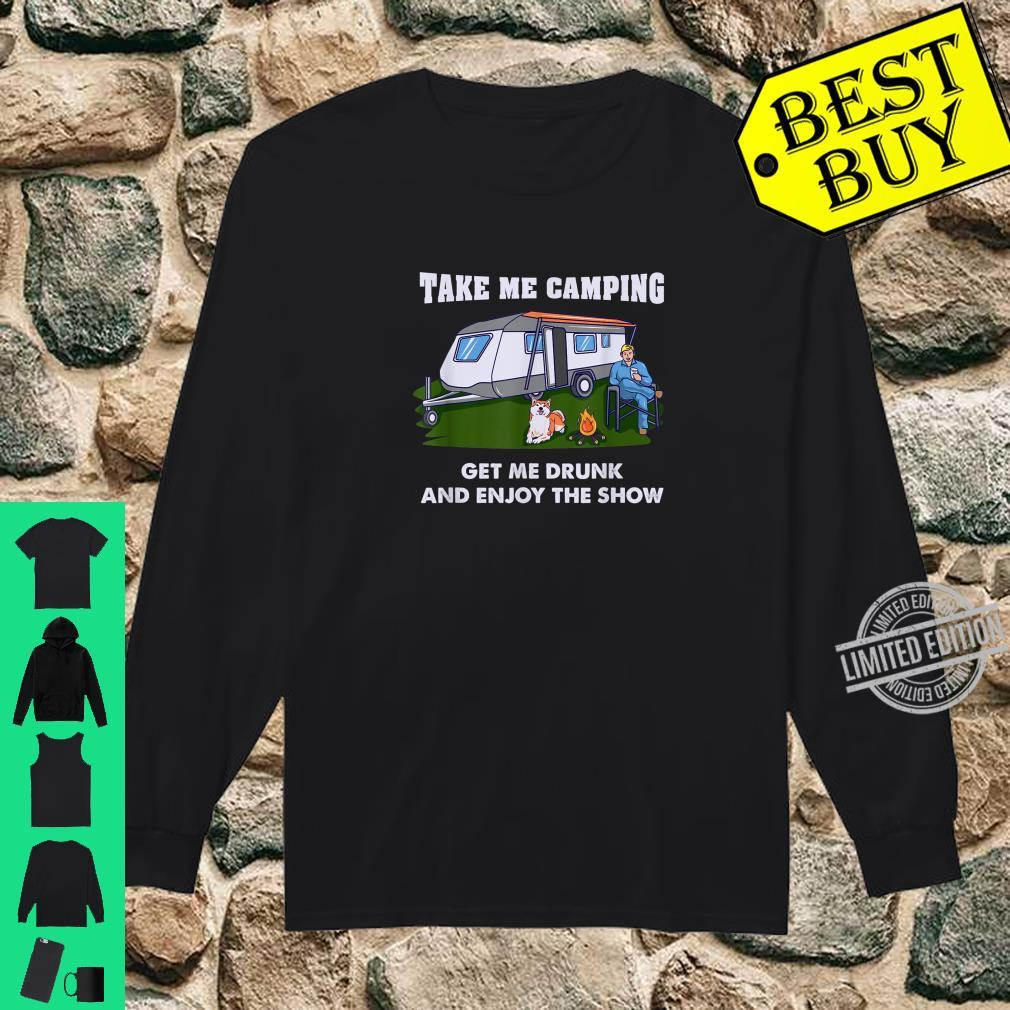 Funny Camping & Drinking For Camper Shirt long sleeved