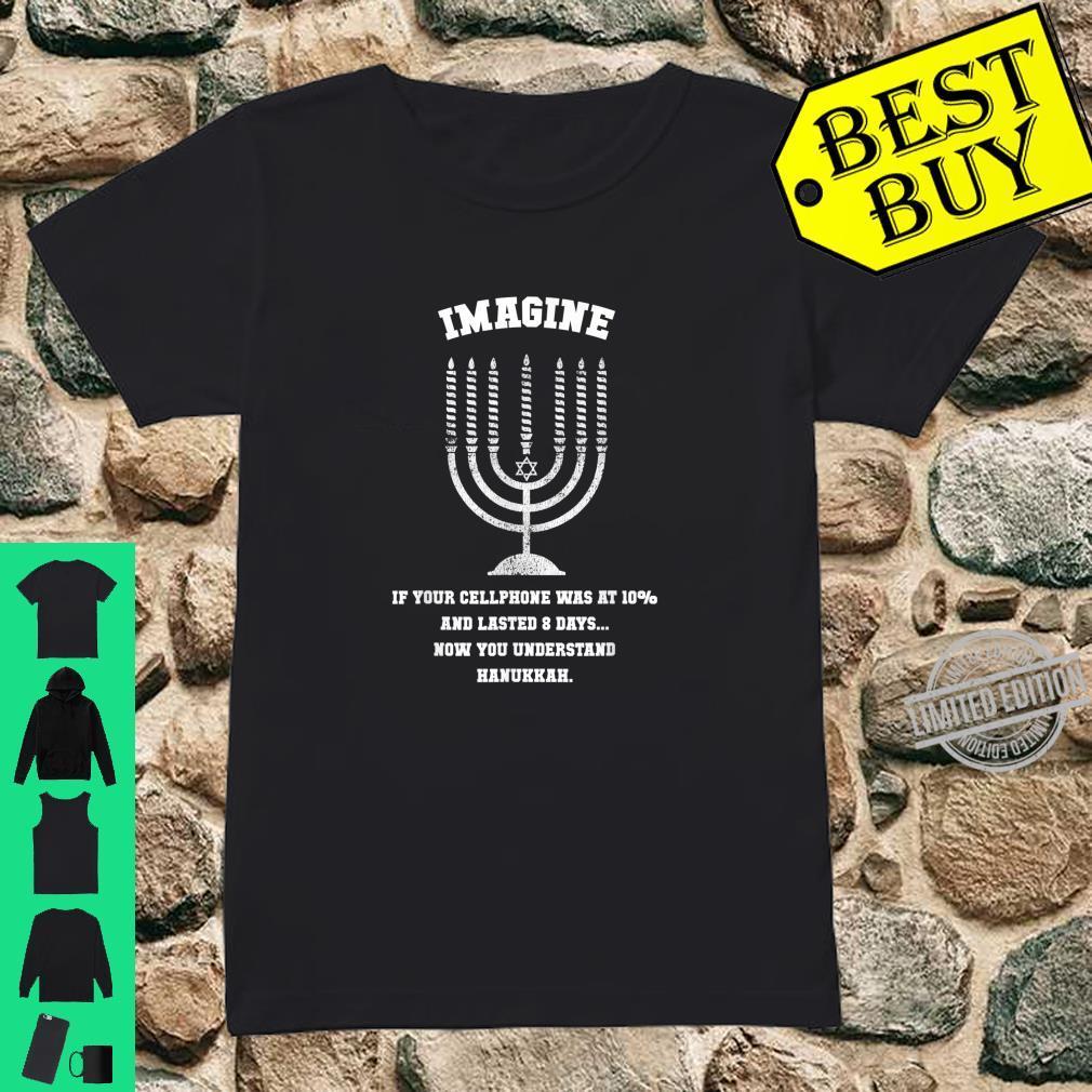 Funny Cellphone Hanukkah, Chanukah Shirt ladies tee