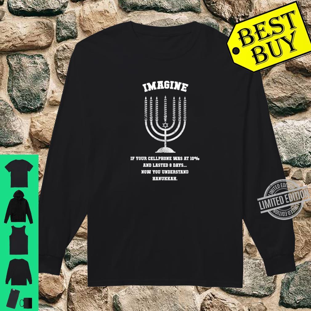 Funny Cellphone Hanukkah, Chanukah Shirt long sleeved