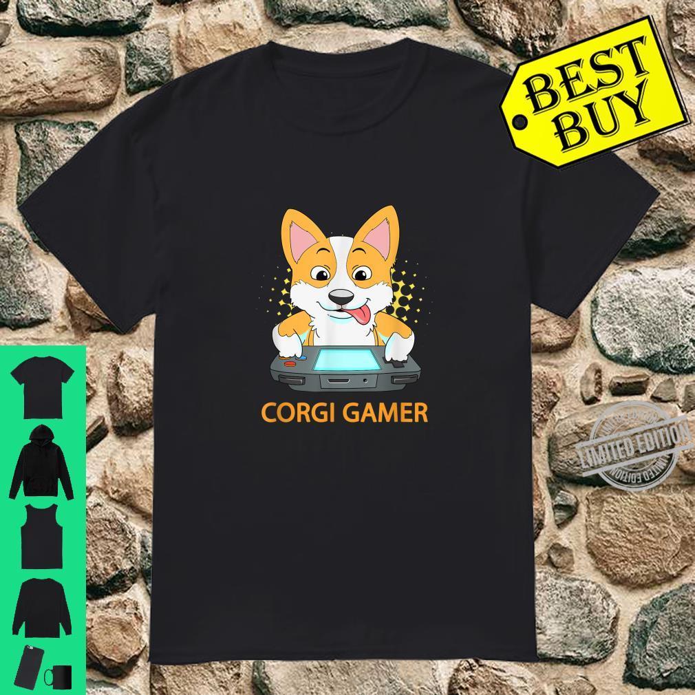 Funny Corgi Gamer Online Gaming Dog Video Game Computer Pet Shirt