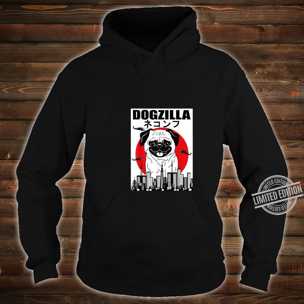 Funny Dogzilla Japanese Sunset Dog Vintage Outfit Shirt hoodie