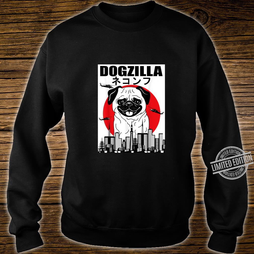 Funny Dogzilla Japanese Sunset Dog Vintage Outfit Shirt sweater
