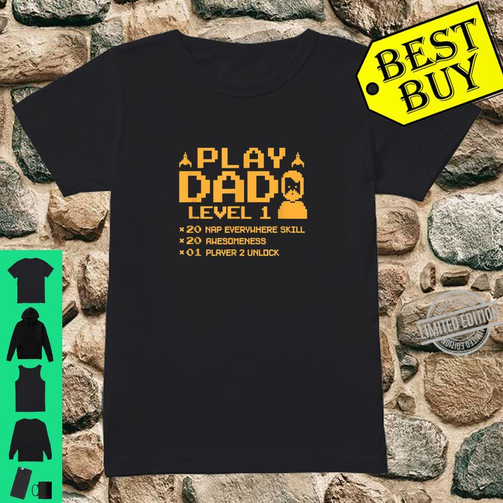 Funny Gamer Dad Shirt Cool Video Gaming Player Father Shirt ladies tee
