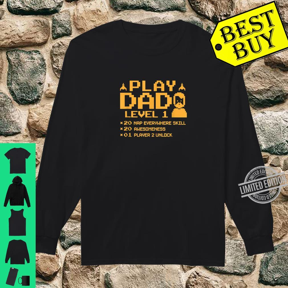Funny Gamer Dad Shirt Cool Video Gaming Player Father Shirt long sleeved