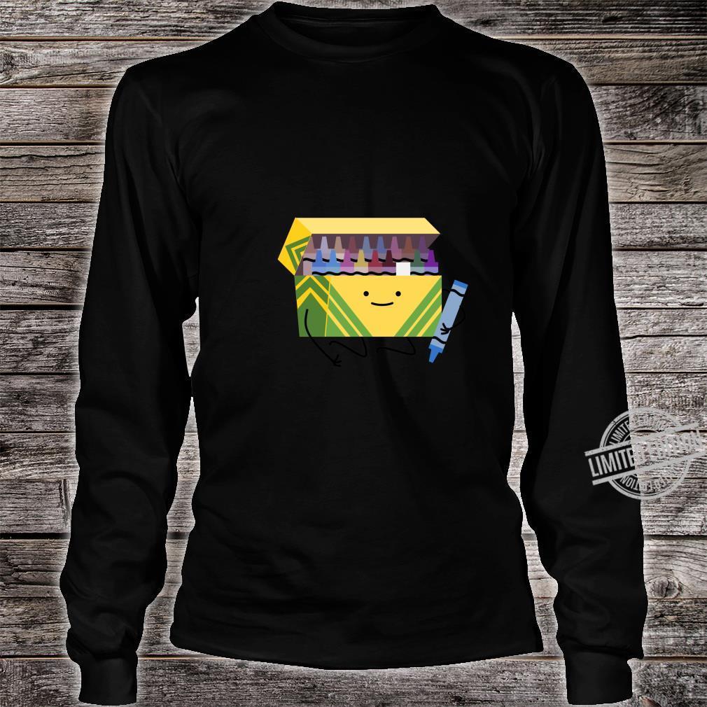 Funny Good Boys Crayon Box Smile Teacher Shirt long sleeved