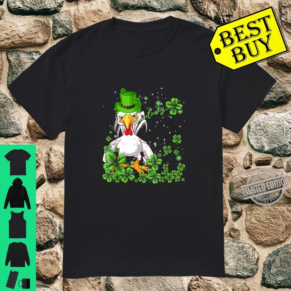 Funny Lucky Chicken Shamrock Shirt St Patrick's Day Shirt