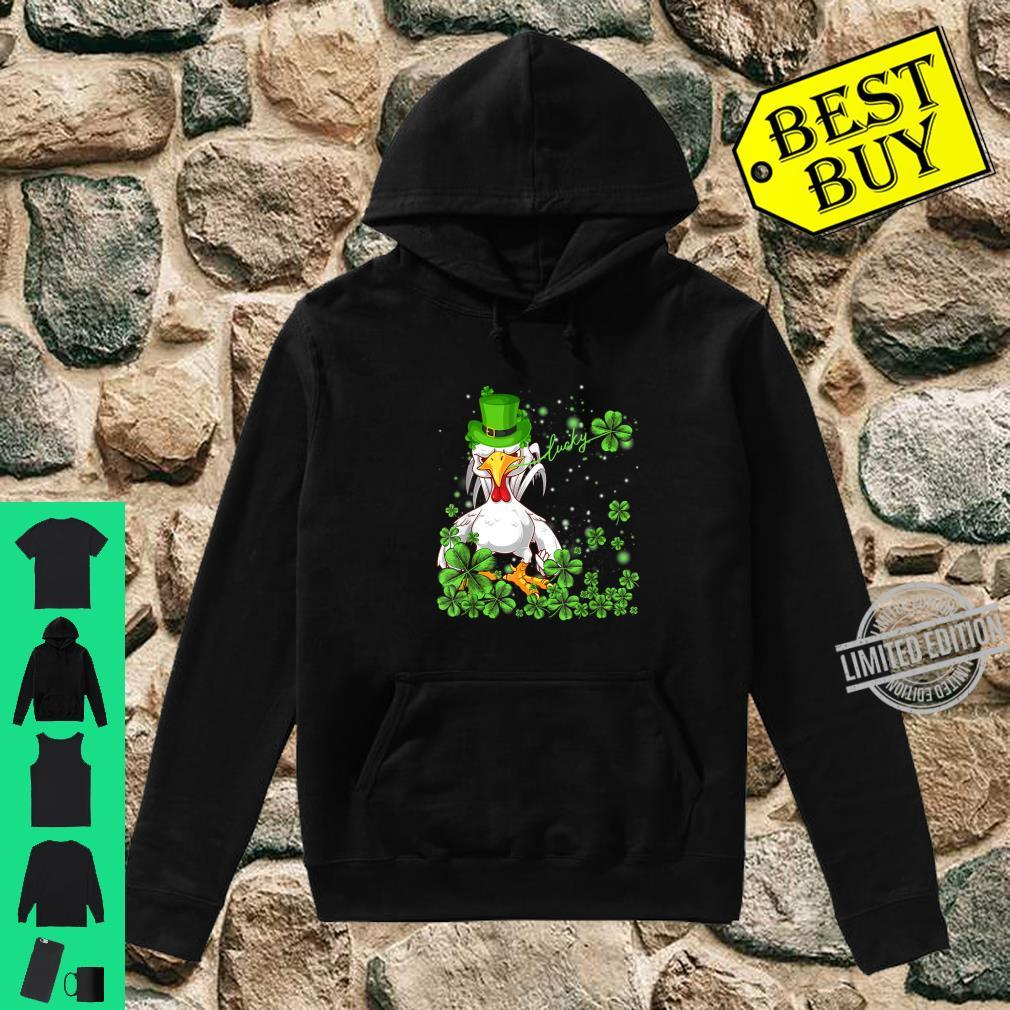 Funny Lucky Chicken Shamrock Shirt St Patrick's Day Shirt hoodie