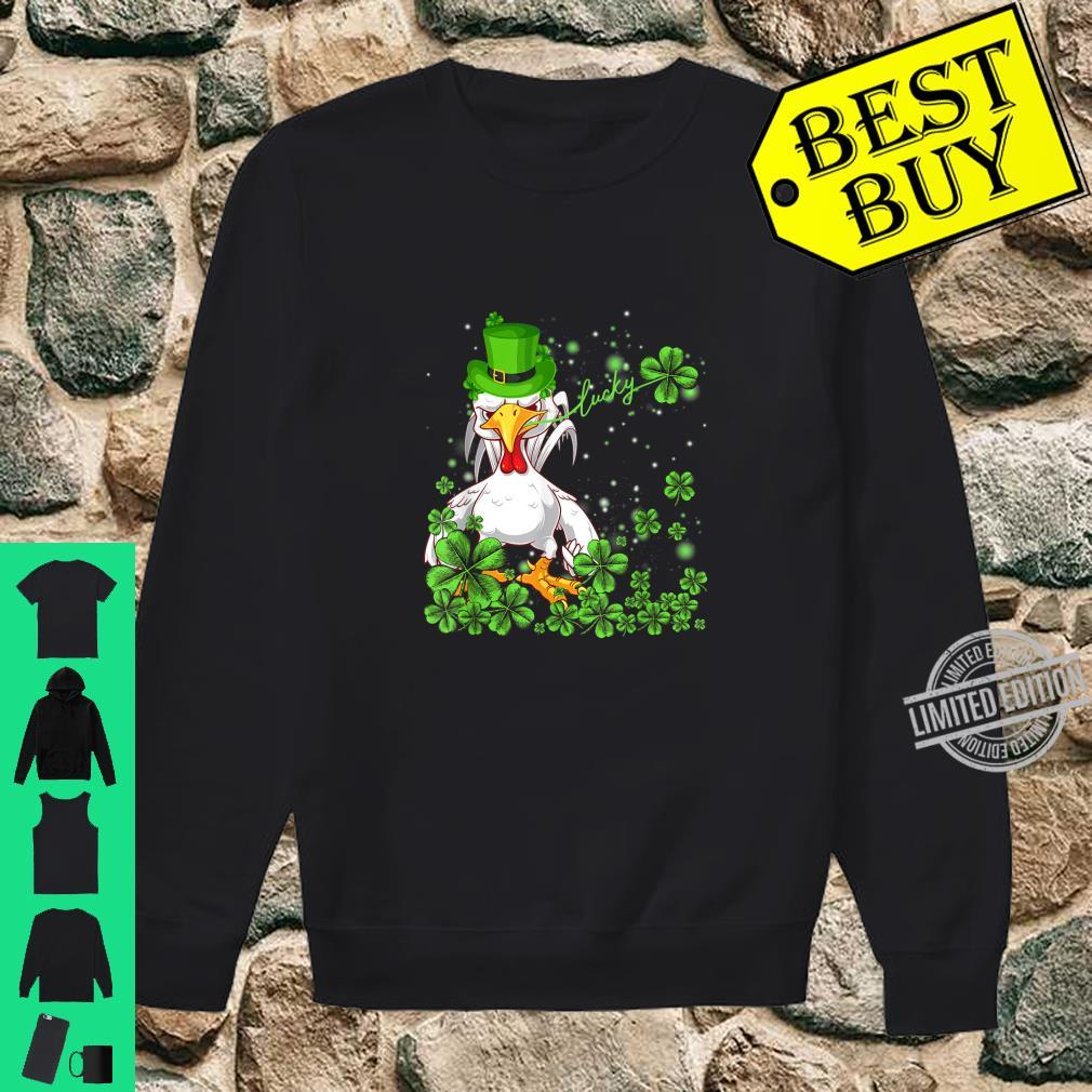 Funny Lucky Chicken Shamrock Shirt St Patrick's Day Shirt sweater