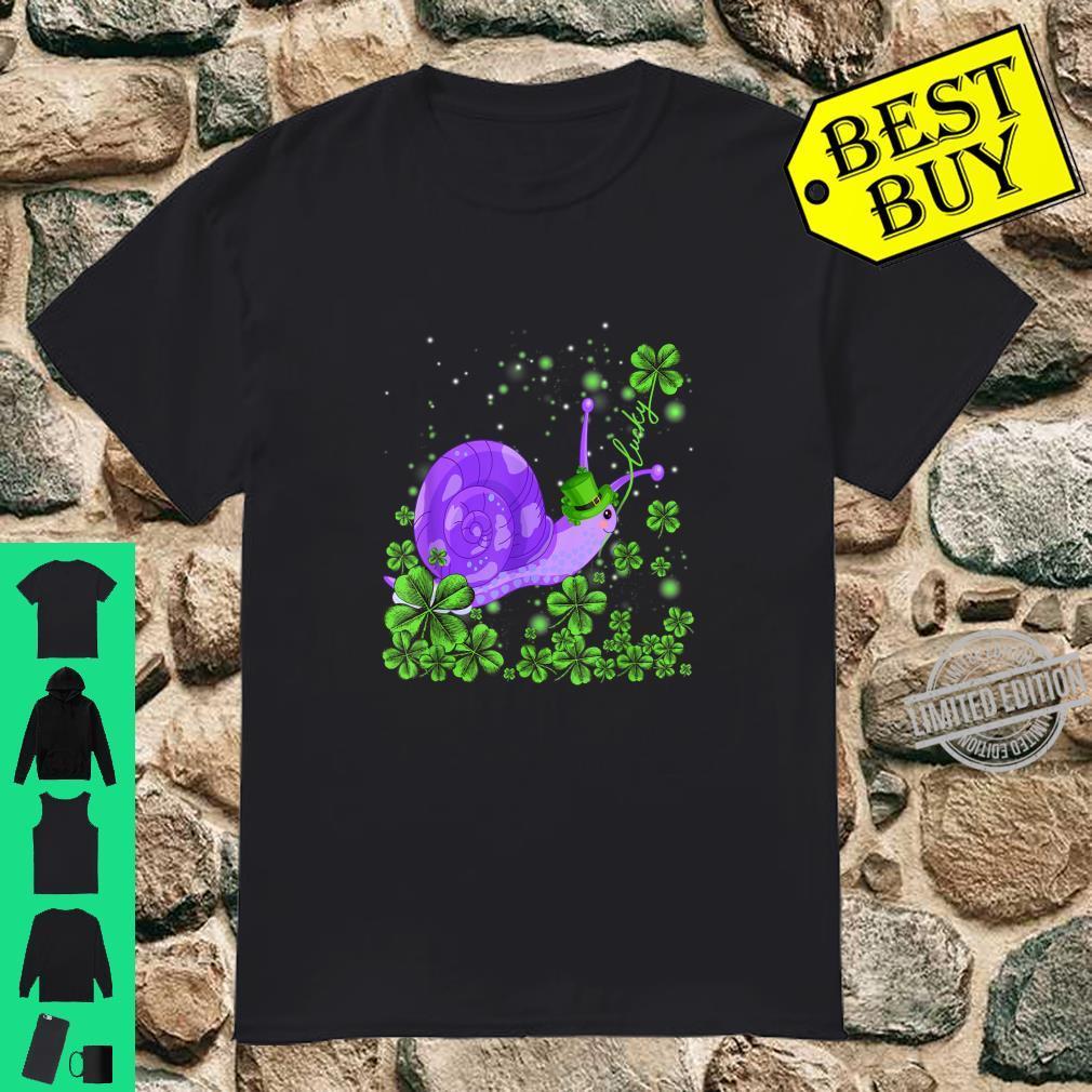 Funny Lucky Snail Shamrock Shirt St Patrick's Day Shirt