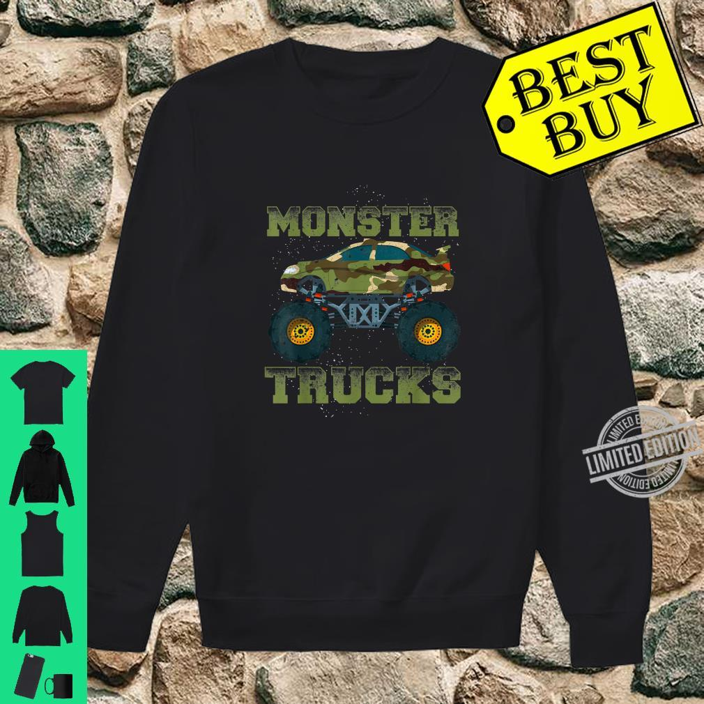 Funny Monster Trucks Camouflage Birthday Shirt sweater