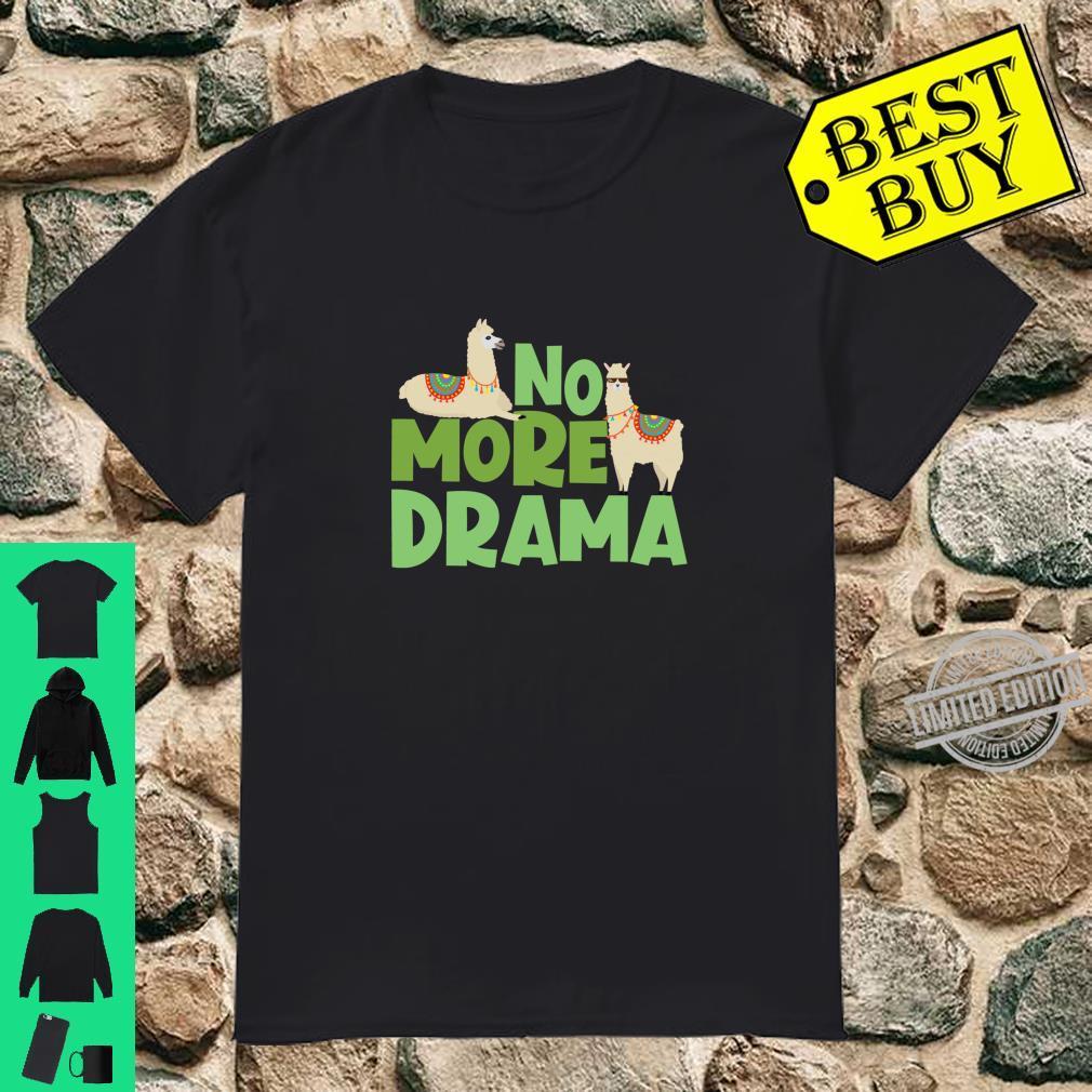 Funny No Drama Llama Stay Calm Favorit Animal Alpaca Shirt
