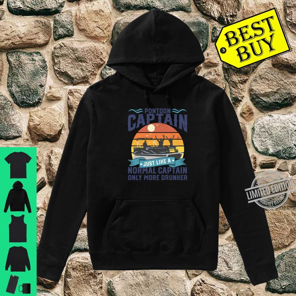 Funny Pontoon Captain Boat Lake Boating Dad Fathers Day Shirt hoodie