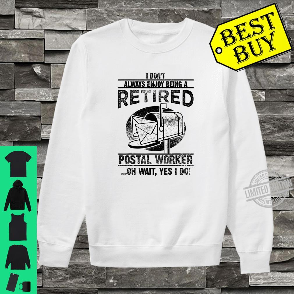 Funny Postal Worker Retirement Cute Retired Courier Shirt