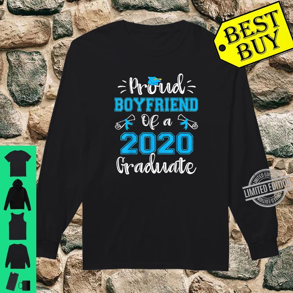 Funny Proud Boyfriend Of A 2020 Graduate Shirt Senior Shirt long sleeved