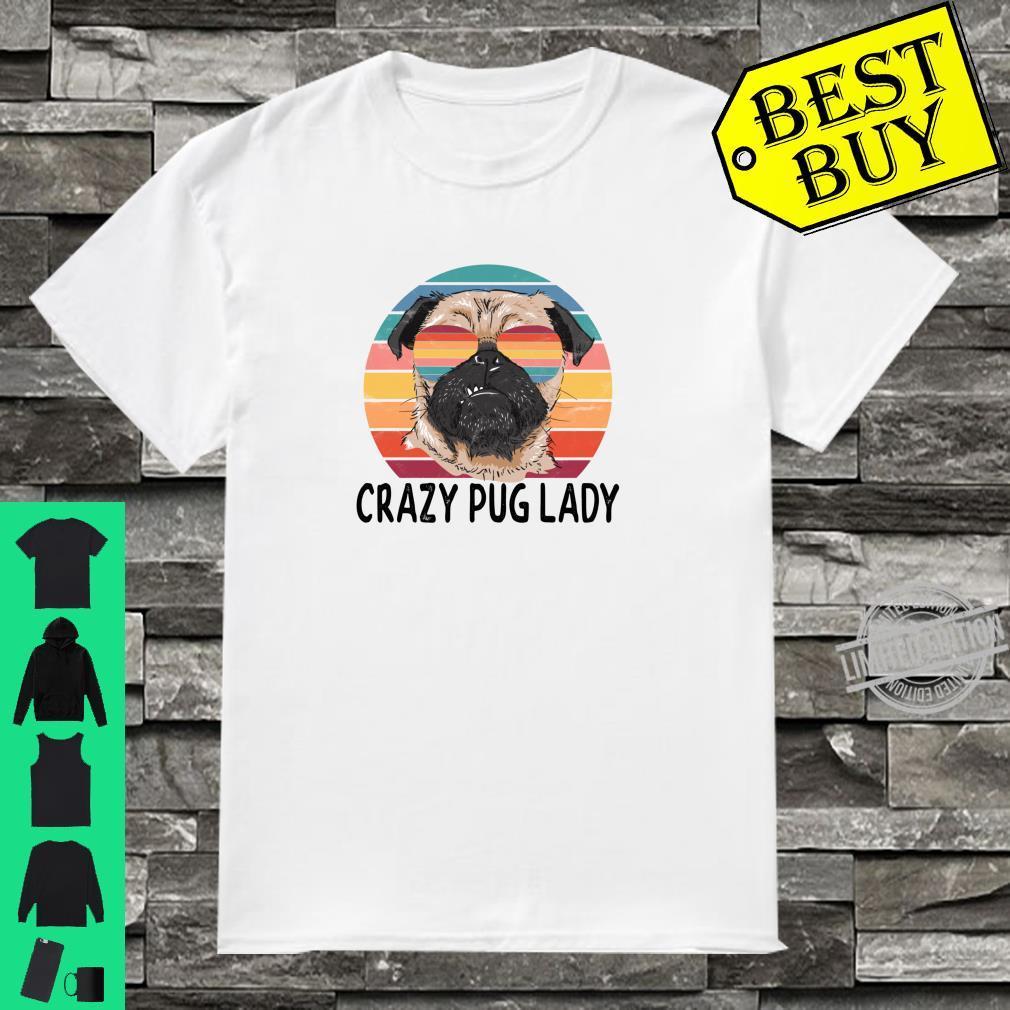 Funny Pug Mom Crazy Pug Lady Shirt