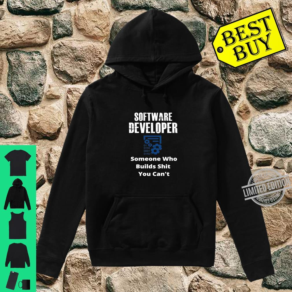 Funny Quote Sarcastic Saying Software Developer Definition Shirt hoodie