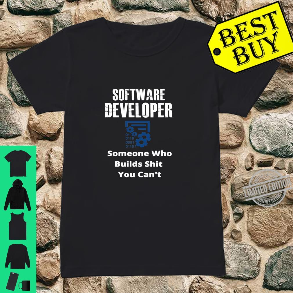 Funny Quote Sarcastic Saying Software Developer Definition Shirt ladies tee