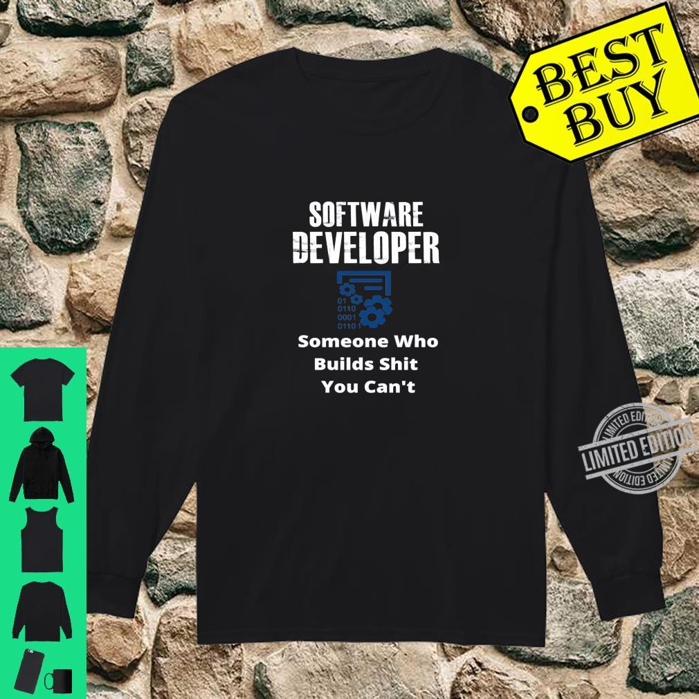 Funny Quote Sarcastic Saying Software Developer Definition Shirt long sleeved