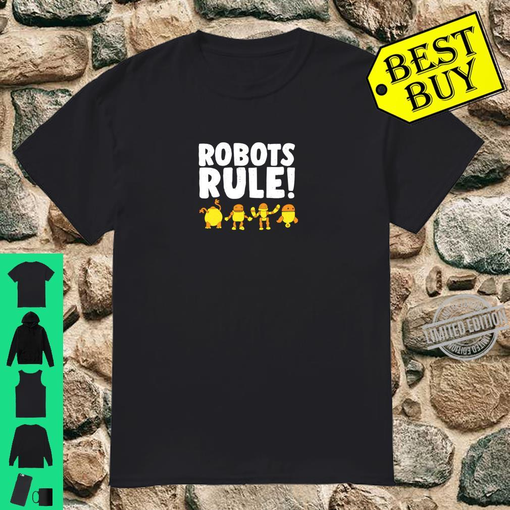 Funny Robots Rules Robot Modern Science Robotics Engineering Shirt
