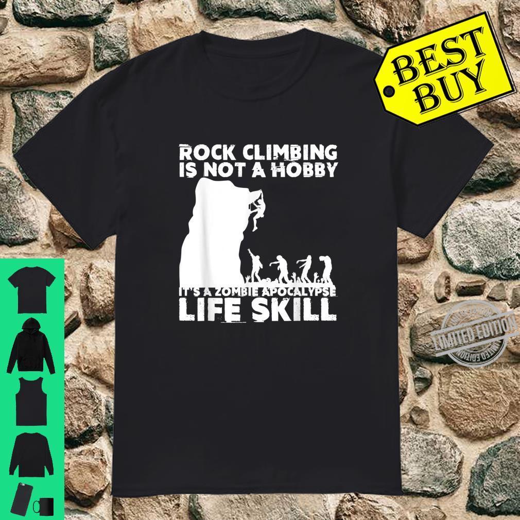 Funny Rock Climber Cool Zombie Climbing Shirt