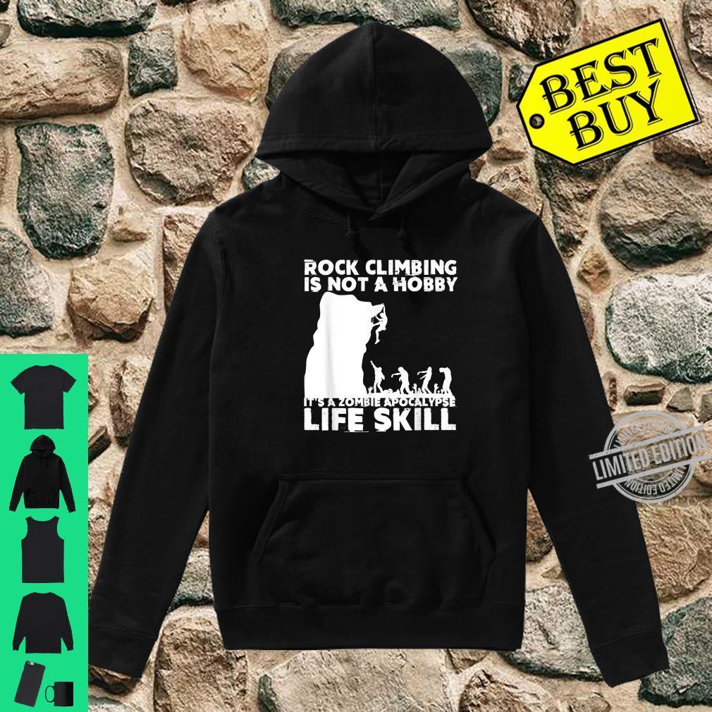 Funny Rock Climber Cool Zombie Climbing Shirt hoodie