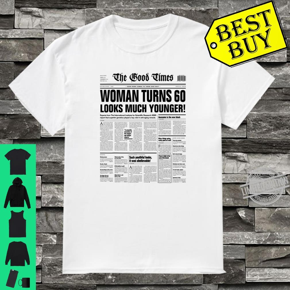 Funny Sarcastic Newspaper Headline 60th Birthday Shirt