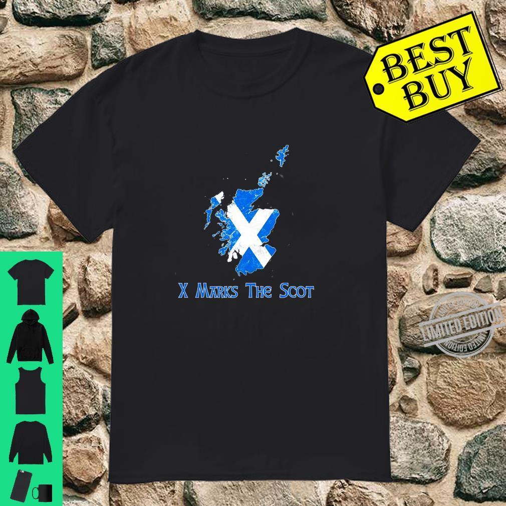 Funny X Marks The Scot Scottish Scotland Flag Shirt