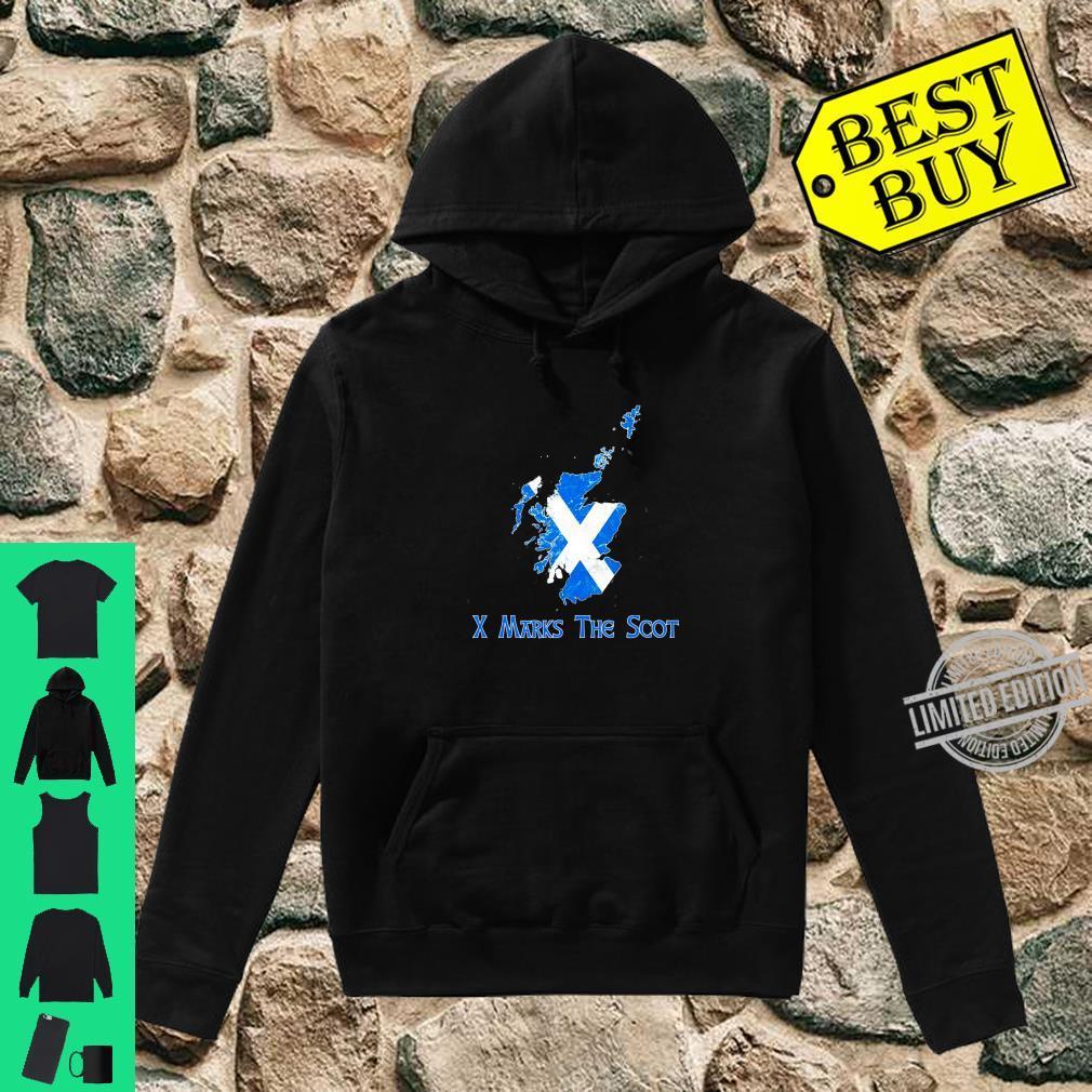 Funny X Marks The Scot Scottish Scotland Flag Shirt hoodie