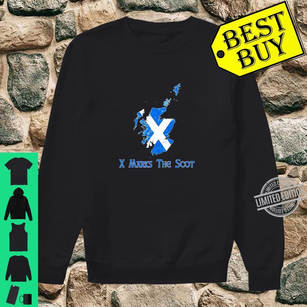 Funny X Marks The Scot Scottish Scotland Flag Shirt sweater
