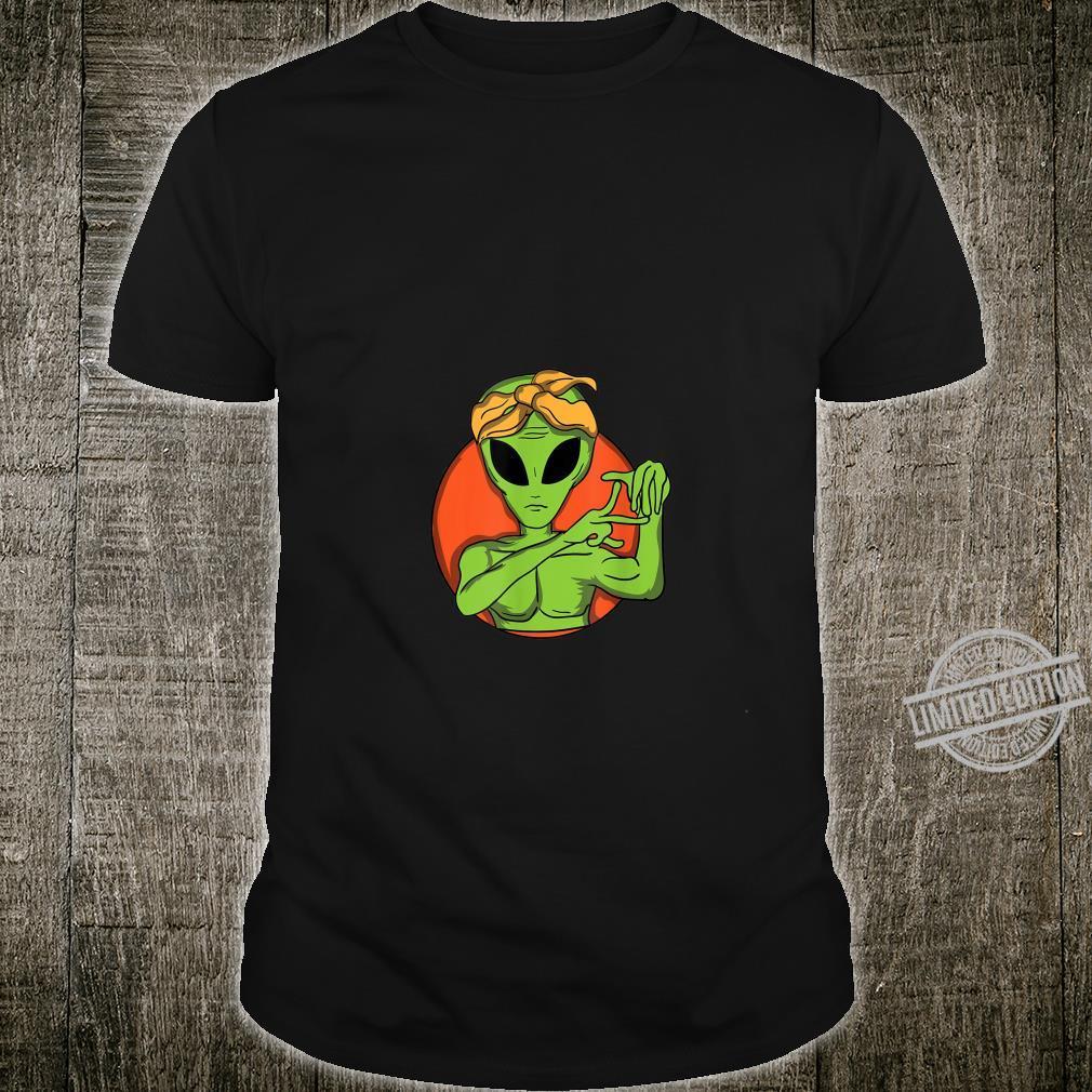 Gangster Alien Ufo Green Gang Shirt