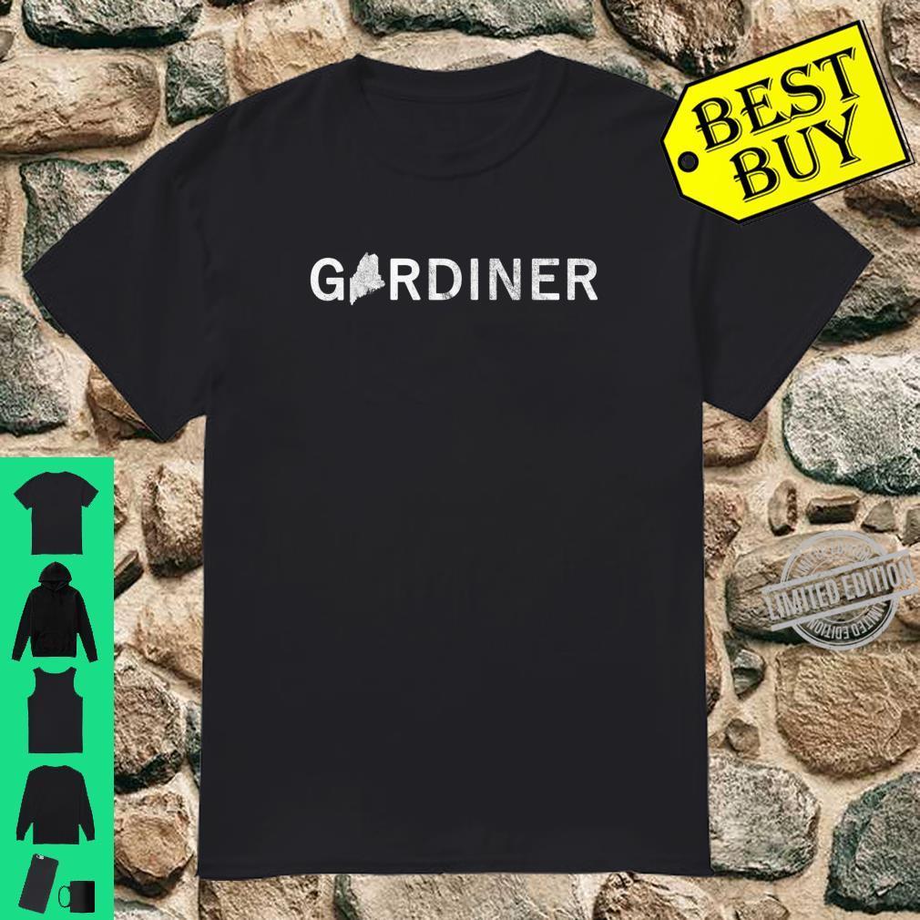 Gardiner Maine Map Shirt