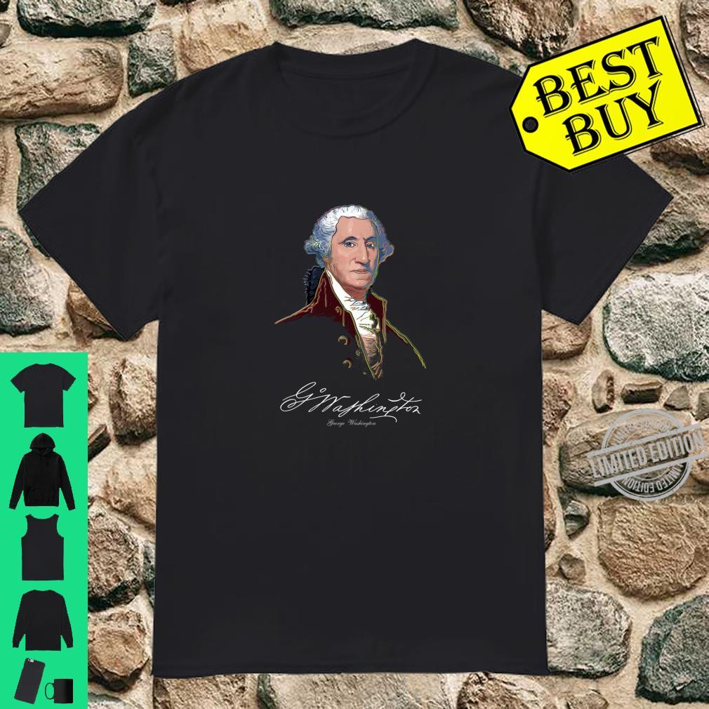 George WashingtonFounding FatherColorfulUSA Shirt