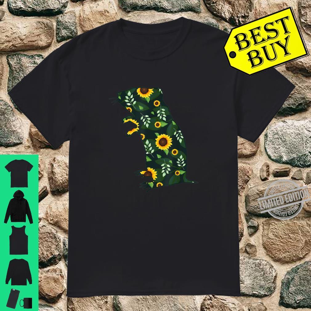 Gerbil Sunflower Girl Floral Gnawer Pet Hawaiian Shirt