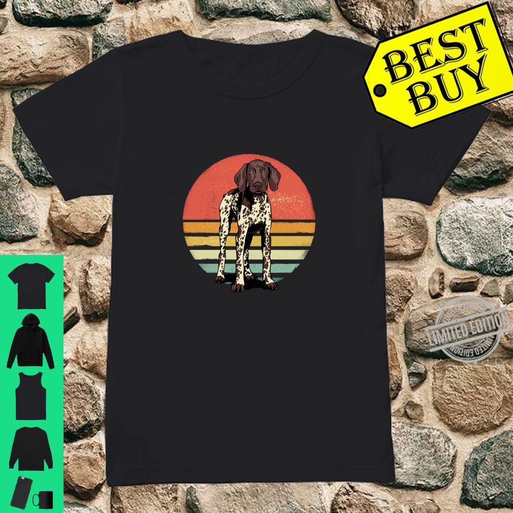 German Shorthaired Pointer Dog Retro Vintage Dog Pet Shirt ladies tee