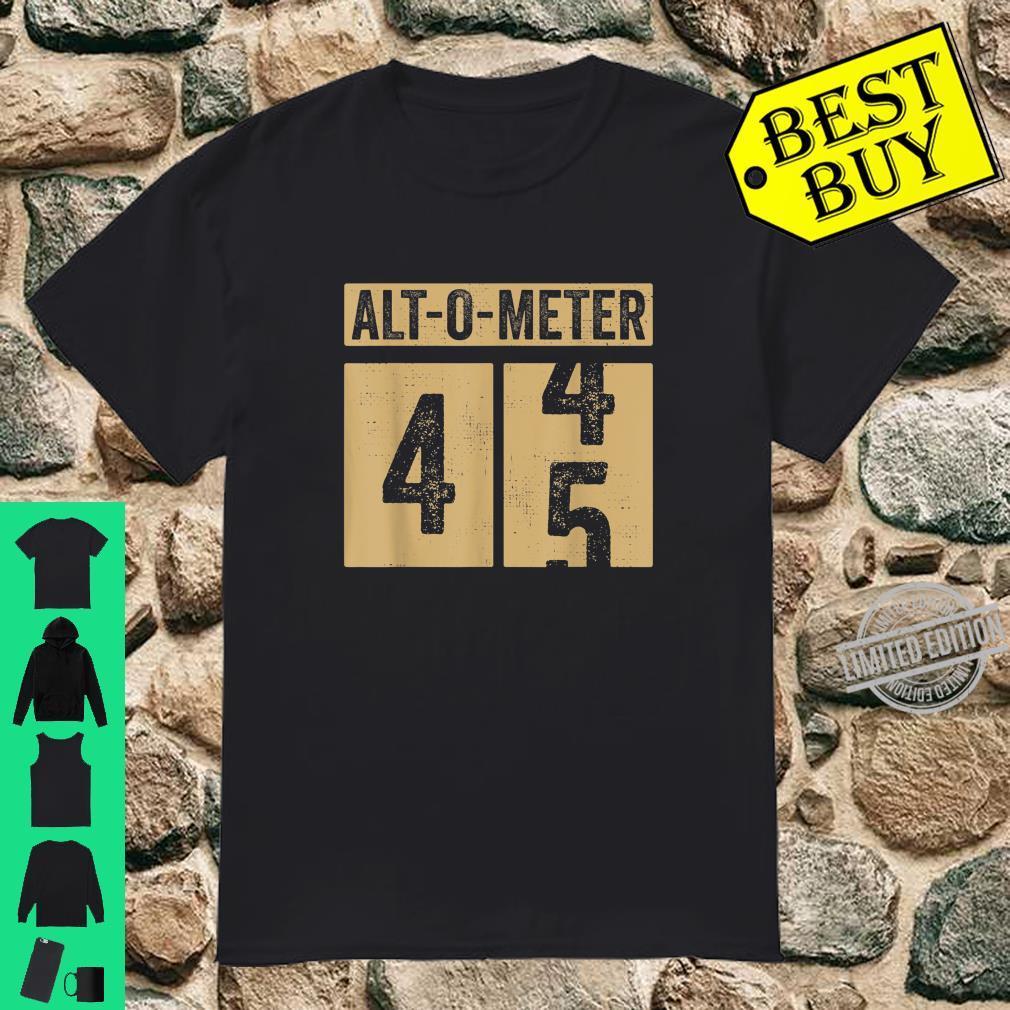 Geschenk zum 45. Geburtstag Mann Papa Frau Altometer Vintage Shirt