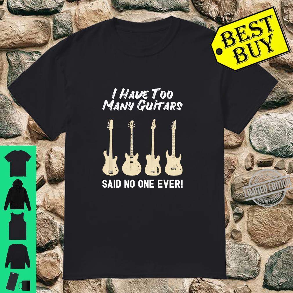 Gitarren Vintage Gitarrist Gitarre Spieler Geschenk Langarmshirt Shirt