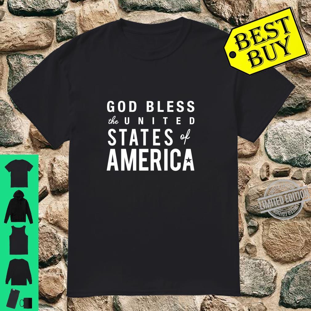 God Bless USA America Patriot 4th of July Cute Shirt