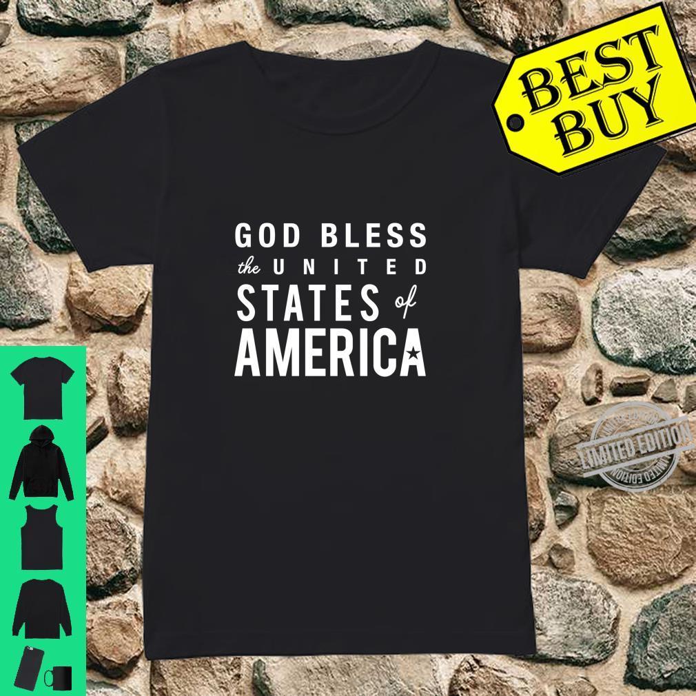 God Bless USA America Patriot 4th of July Cute Shirt ladies tee