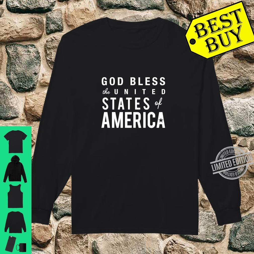 God Bless USA America Patriot 4th of July Cute Shirt long sleeved