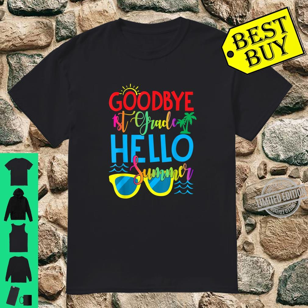 Goodbye 1st Grade Hello Summer Holiday Graduation Shirt